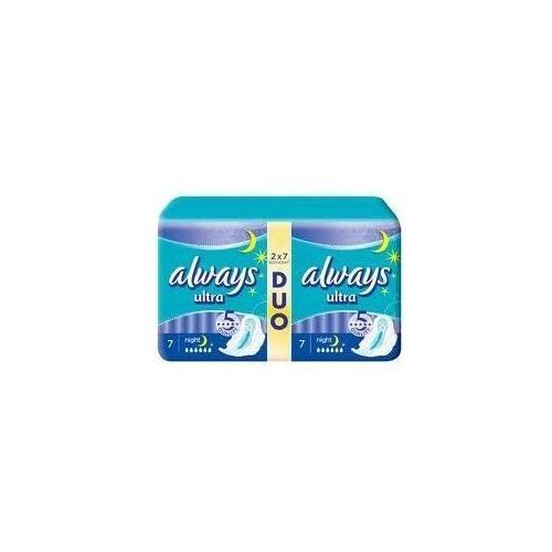 Always ultra night duo podpaski 2 x 7 szt. marki Procter& gamble