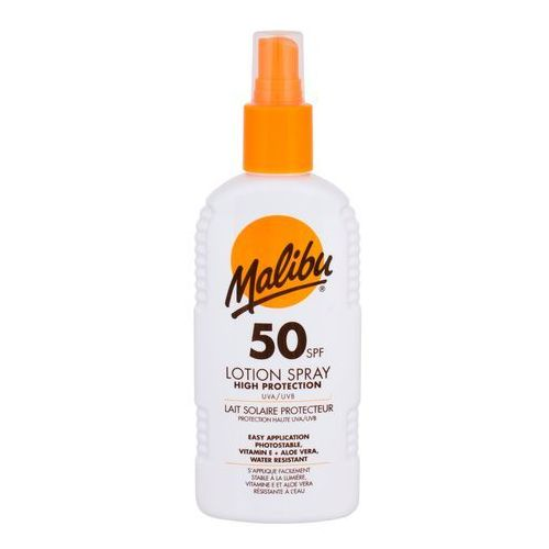 lotion spray spf50 preparat do opalania ciała 200 ml unisex marki Malibu