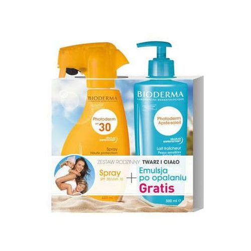 BIODERMA Photoderm spray SPF 30 (400ml) + Emulsja po opalaniu Photoderm Apres-Soleil 500ml Gratis!