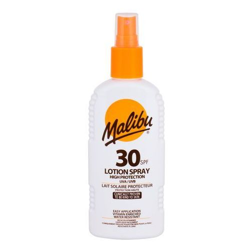 Malibu lotion spray spf30 preparat do opalania ciała 200 ml unisex