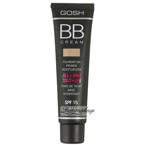 Gosh BB Cream, All in One, krem, baza, podkład, 5701278378000