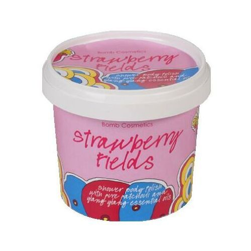 Bomb cosmetics strawberry fields peeling pod prysznic (shower body polish) 375 ml (5037028239032)