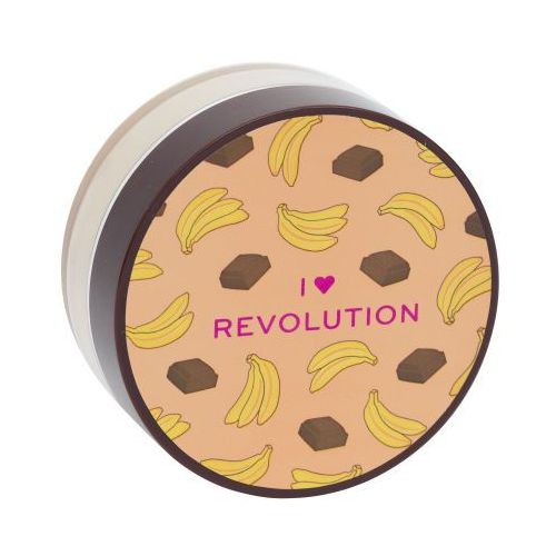 Makeup Revolution London I Heart Revolution Loose Baking Powder puder 22 g dla kobiet Chocolate Banana